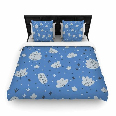 Autumn Leaves Woven Duvet Cover Size: Twin