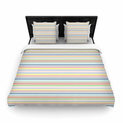 Pruge Woven Duvet Cover Size: King