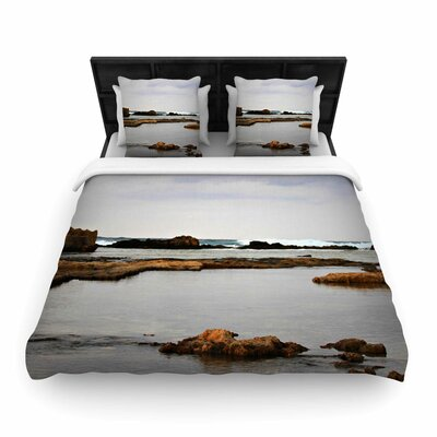 Dark Sea Woven Duvet Cover Size: Twin