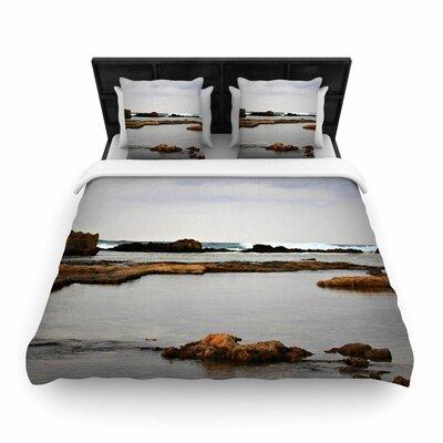 Dark Sea Woven Duvet Cover Size: King