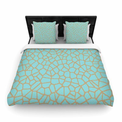 Staklo III Woven Duvet Cover Size: King