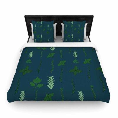 Herb Garden Woven Duvet Cover Size: Queen