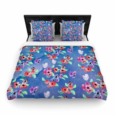 Signs Of Spring Woven Duvet Cover Size: King
