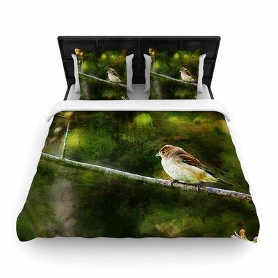 Songbird Woven Duvet Cover Size: King