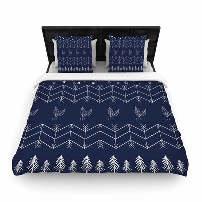 Arrows Jungle Woven Duvet Cover Size: King