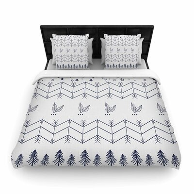 Tribal Arrows Jungle Stars Woven Duvet Cover Size: King