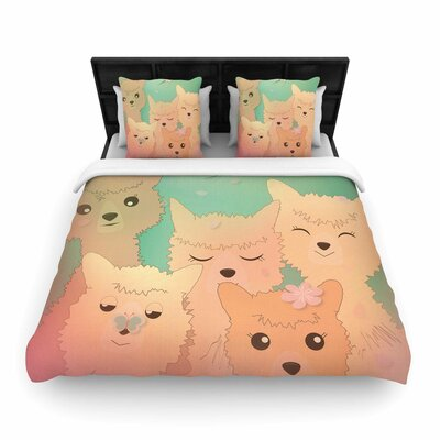 Alpacas Woven Duvet Cover Size: Queen
