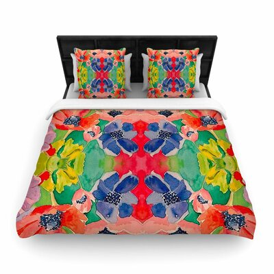 Spring Time Woven Duvet Cover Size: Twin