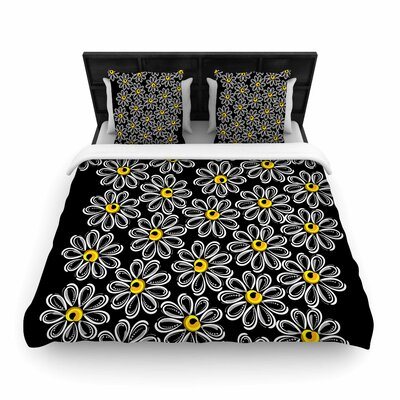 Chamomile Woven Duvet Cover Size: King
