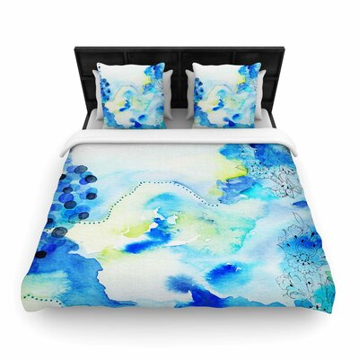 Deep Blue Sea Woven Duvet Cover Size: Twin