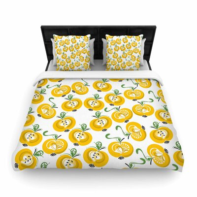 Apple Woven Duvet Cover Size: Queen