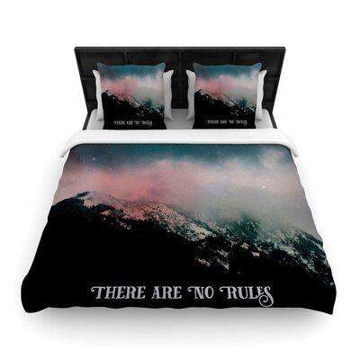 There Are No Rules Woven Duvet Cover Size: Twin