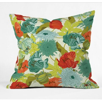 Flower Route Polyester Throw Pillow Size: 18 H x 18 W x 5 D