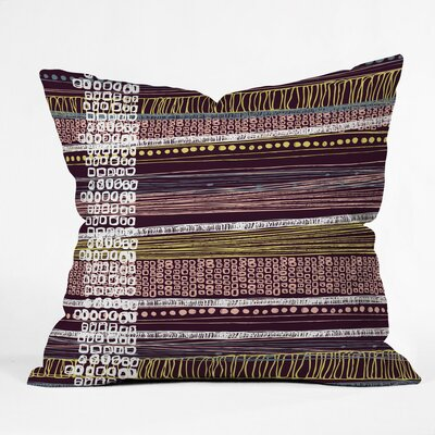 Abstract Border Polyester Throw Pillow Size: 16 H x 16 W x 4 D
