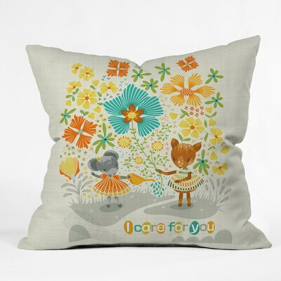 I Care for You Polyester Throw Pillow Size: 20 H x 20 W x 6 D