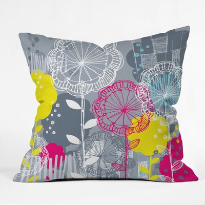 Stems Polyester Throw Pillow Size: 18 H x 18 W x 5 D