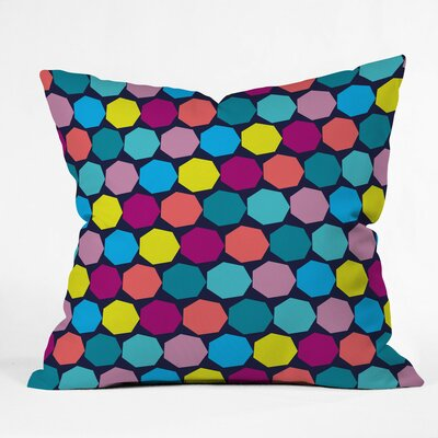 Hectagons Polyester Throw Pillow Size: 20 H x 20 W x 6 D