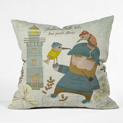 Smitti Was A Pirate Polyester Throw Pillow Size: 16 H x 16 W x 4 D