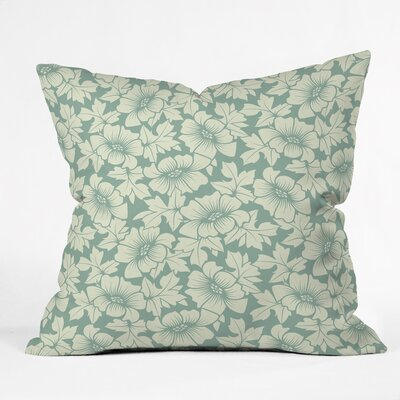 Flowers Everywhere Polyester Throw Pillow Size: 16 H x 16 W x 4 D