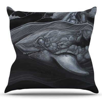 Troubled Joe by Graham Curran Outdoor Throw Pillow