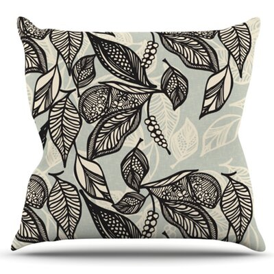 Java Leaf by Gill Eggleston Outdoor Throw Pillow