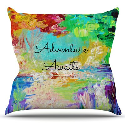 Adventure Awaits by Ebi Emporium Outdoor Throw Pillow