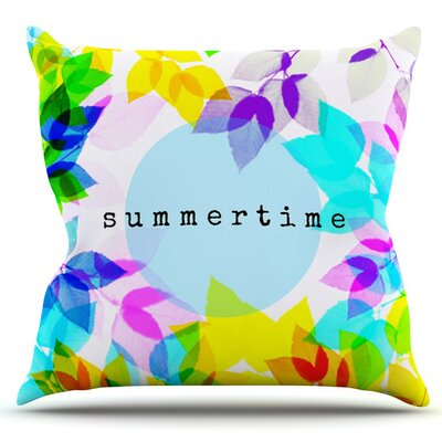 Seasons Summer by Sreetama Ray Outdoor Throw Pillow