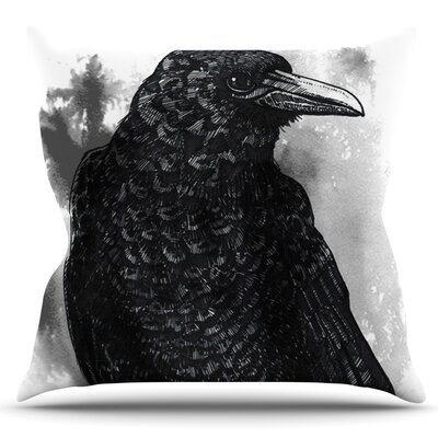 Crow by Sophy Tuttle Outdoor Throw Pillow
