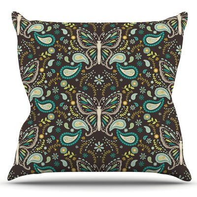 Butterfly Garden by Suzie Tremel Outdoor Throw Pillow