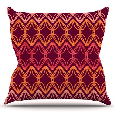 Rick Rack by Suzie Tremel Outdoor Throw Pillow