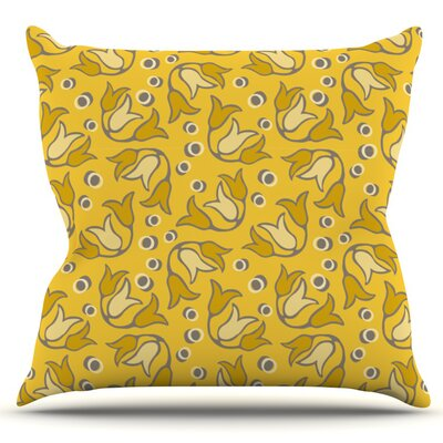 Tulip Toss by Suzie Tremel Outdoor Throw Pillow
