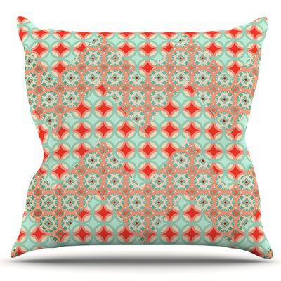 Traveling Caravan by Catherine McDonald Outdoor Throw Pillow