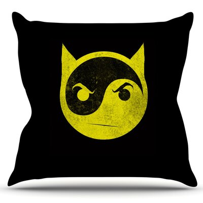 Bat Yin by Frederic Levy-Hadida Outdoor Throw Pillow