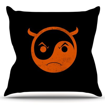 Yin Yang Diablo by Frederic Levy-Hadida Outdoor Throw Pillow