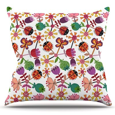 Garden Floral by Jane Smith Outdoor Throw Pillow