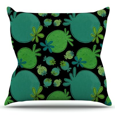 Garden Pods by Jane Smith Outdoor Throw Pillow