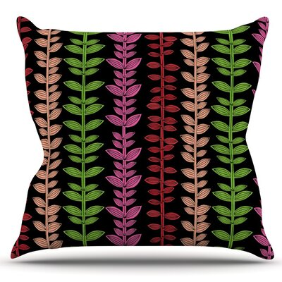 Garden Vine and Leaf by Jane Smith Outdoor Throw Pillow