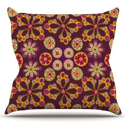 Indian Jewelry Floral by Jane Smith Outdoor Throw Pillow