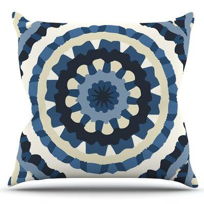 Ribbon Mandala by Laura Nicholson Outdoor Throw Pillow