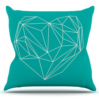 Heart Graphic by Mareike Boehmer Outdoor Throw Pillow