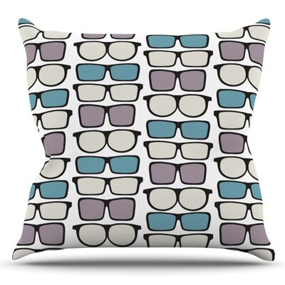 Spectacles Geek Chic by Michelle Drew Outdoor Throw Pillow