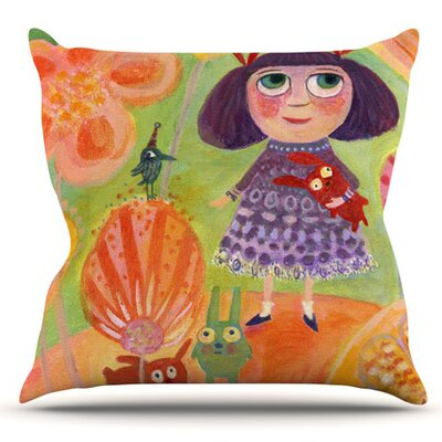 Flowerland by Marianna Tankelevich Outdoor Throw Pillow