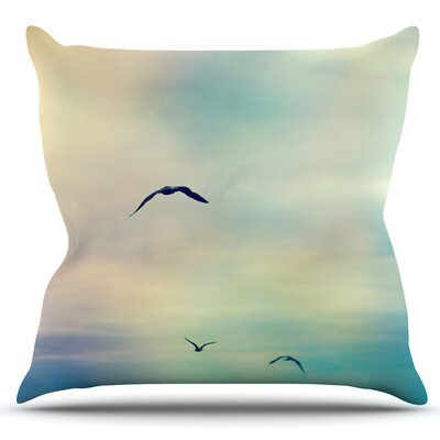 Freedom by Sylvia Cook Outdoor Throw Pillow