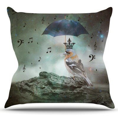Umbrella Bird by Suzanne Carter Outdoor Throw Pillow