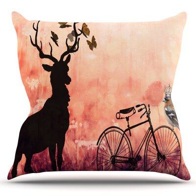 Vintage Forest by Suzanne Carter Outdoor Throw Pillow