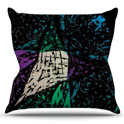 Family by Theresa Giolzetti Outdoor Throw Pillow Color: Green