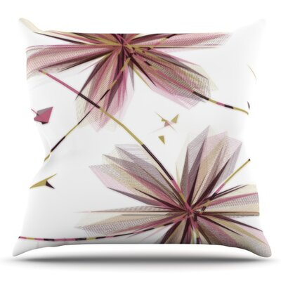 Flower by Alison Coxon Outdoor Throw Pillow Color: Aubergine