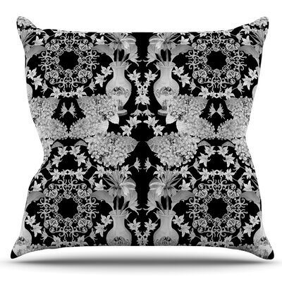 Versailles by DLKG Design Outdoor Throw Pillow Color: Black