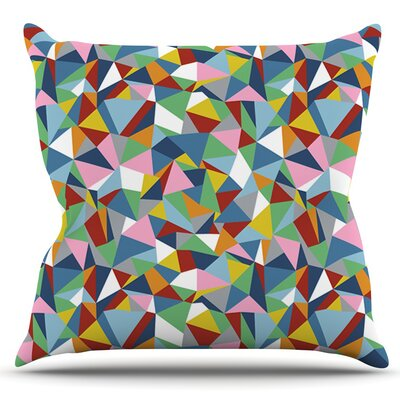Abstraction by Project M Outdoor Throw Pillow Color: Red