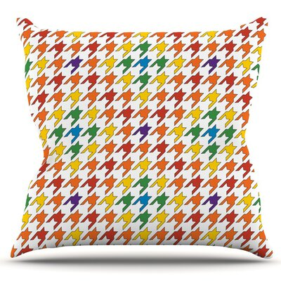 Pastel Houndstooth by Empire Ruhl Outdoor Throw Pillow Color: Pastel